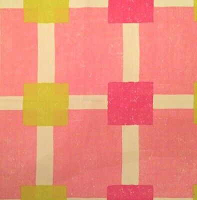 DESIGNERS GUILD Diagonal Pink White Chartreuse Green New