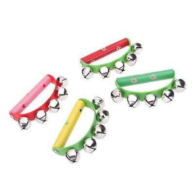 Jingle Percussion Sleigh Hand Bells tambourine Kid party Toy Musical Instrument