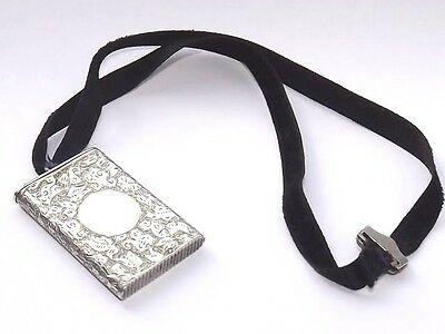 Antique Sampson Mordan Victorian Hm Solid Silver Sterling Vesta Case London 1892