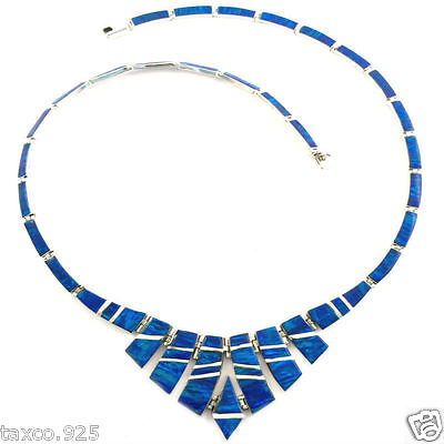 Taxco Mexican 950 Sterling Silver Opal Necklace Mexico