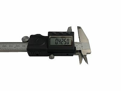 "Rdgtools 150Mm 6"" With Fraction Lcd Display Digital Vernier Caliper Metal Cover"