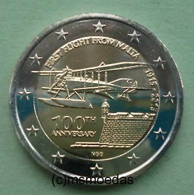 Malta 2 Euro Gedenkmünze 2015 Erstflug First Flight Euromünze commemorative coin