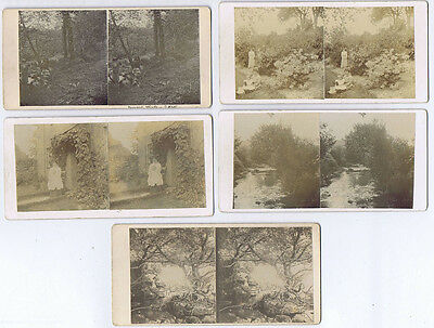 STEREOVIEW People & Scenes around St Neots, Cornwall x5 cards