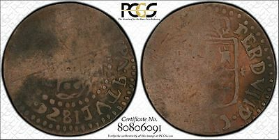 Philippines 1 Quarto 1829 Fine Details PCGS Basso#11o Inverted Obverse SCARCE