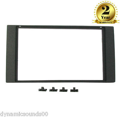 Double Din Black Fascia Adaptor Panel Surround Facia For Ford Focus 2005 to 2007