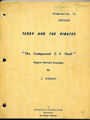 """1952-1953 Original """"TERRY AND THE PIRATES"""" TV Shooting Script"""