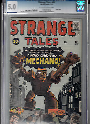 STRANGE TALES #86 (July 1961) CGC 5.0   Jack Kirby & DICK AYERS robot cover