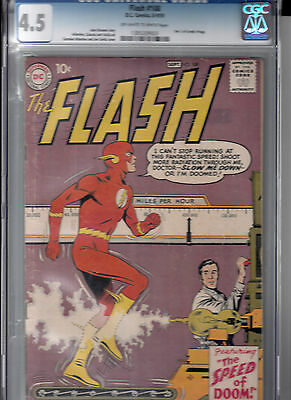 FLASH #108 (Aug-Sept 1959)   CGC 4.5 VG+  GRODD trilogy ends