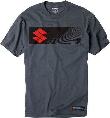 Factory Effex Licensed Suzuki S-Bar T-Shirt Charcoal Mens All Sizes
