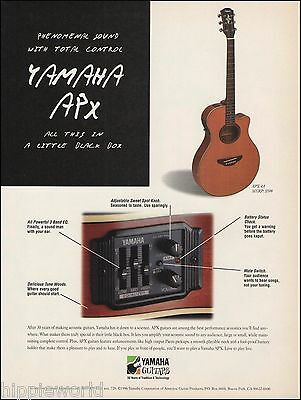 The 1996 Yamaha APX 4A Acoustic Guitar ad 8 x 11 advertisement print