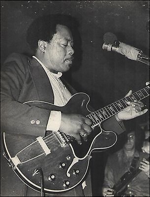 Jimmy Rogers and his Gibson ES-335 onstage 1979 London 8 x 11 pin-up photo