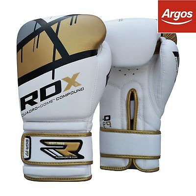 RDX Synthetic 12oz Leather Boxing Gloves - Gold.