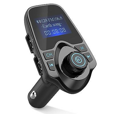 Wireless In-Car Bluetooth FM Transmitter Hands-free Talking USB Car Charger BT11