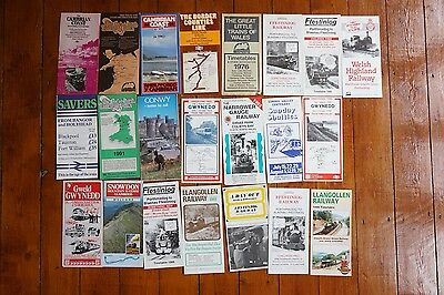 British Rail Wales Welsh Railway Leaflets x22 Publicity Cambrian Coast