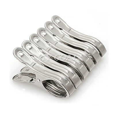 20pcs Stainless Steel Clothes Pegs Washing Line Hanging Pins Clips Laundry Clamp