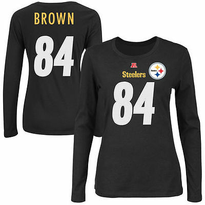 Antonio Brown Majestic Pittsburgh Steelers T-Shirt - NFL