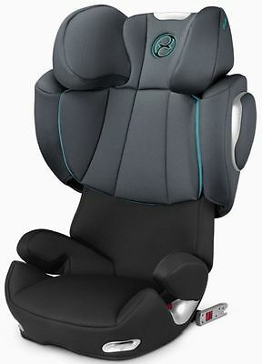 Cybex Solution Q2-Fix High Back Booster Child Safety Car Seat Black Sea NEW