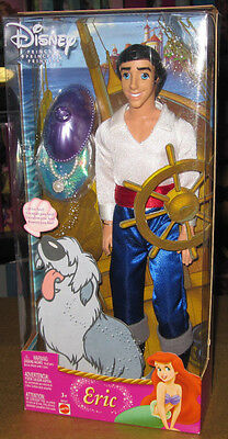 "Disney Sailor PRINCE ERIC doll The Little Mermaid figure 12"" Mattel ariel"