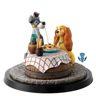 Disney Enesco Figur A Moment in Time Susi und strolch Lady and the Tramp B1615