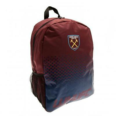 West Ham United Utd Fc Backpack School Bag Rucksack  Holdall