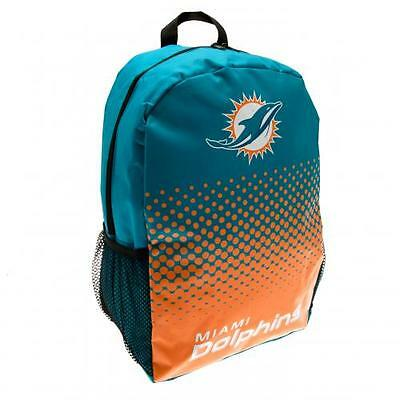 Miami Dolphins Backpack School Bag Rucksack  Holdall NFL