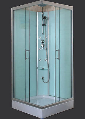 "Shower Cubicle With Glass Wall 900x900x2000mm  ""New"""