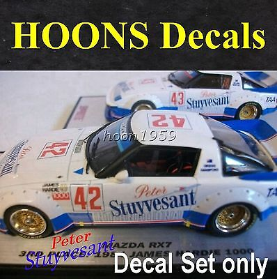 1:43 Waterslide missing Tobacco decals Moffat 1983 or 1984 Mazda RX7 Biante