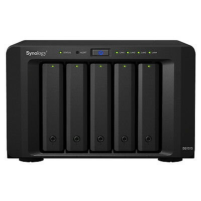 Nuovo Synology Ds1515 Ds1515 5Bay 1.4Ghz 4Xgbe 2Gb Ddr3 2X Usb 3.0 2X Esata In