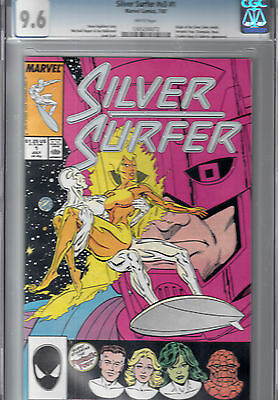 SILVER SURFER #1  (July 1987)   CGC 9.6 (NM+)   Origin of Silver Surfer retold