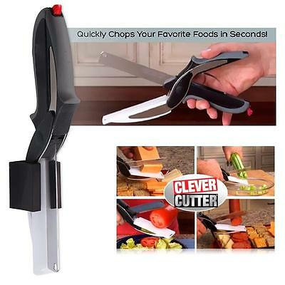 Multi Functional Fresh Home Free Peeler Clever Cutter 2-in-1 Cut Scissors Tools