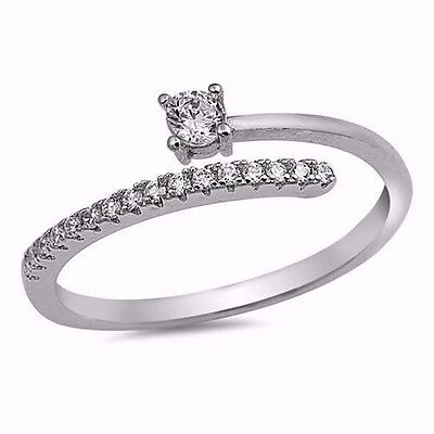 USA SELLER WRAPAROUND CZ Ring Sterling Silver 925 Best Price Jewelry  Selectable