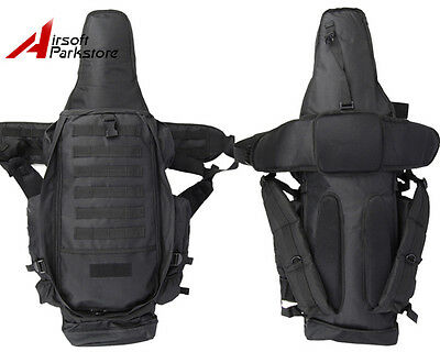 Tactical Military Police Airsoft Molle Dual Rifle Gun Case Backpack Bag Hunting
