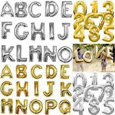 Number Foil Balloons Alphabet Helium Ballons Birthday Wedding Air Baloons ca