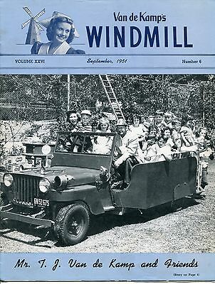 "Vintage VAN DE KAMP'S ""WINDMILL"" Employee Magazine - September 1951"