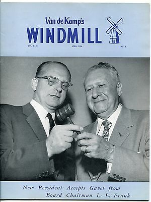 "Vintage VAN DE KAMP'S ""WINDMILL"" Employee Magazine - April 1956"