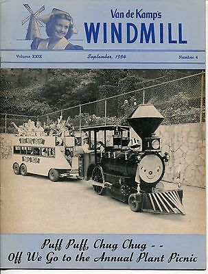 "Vintage VAN DE KAMP'S ""WINDMILL"" Employee Magazine - September 1954"