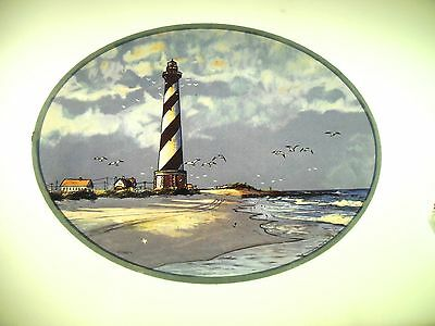 Glassmasters: Lighthouse Cape Hatteras NC  8x9 inches