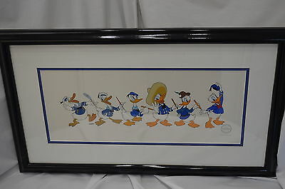 Donald Through The Years 60th Birthday Commemorative Sericel Framed