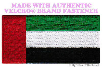 UAE FLAG PATCH EMBROIDERED UNITED ARAB EMIRATES DUBAI w/ VELCRO® Brand Fastener
