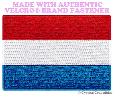 LUXEMBOURG FLAG PATCH EUROPE EMBROIDERED SOUVENIR new w/ VELCRO® Brand Fastener