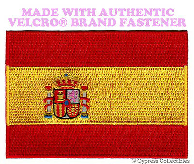 SPAIN FLAG PATCH SPANISH ESPAÑA EMBROIDERED PARCHE new w/ VELCRO® Brand Fastener