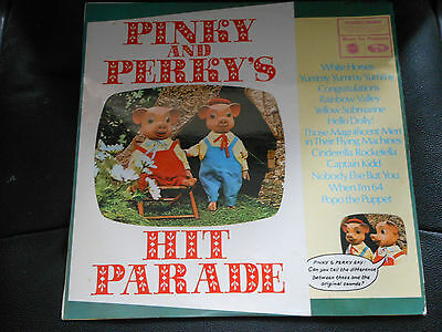 """CHILDRENS 12"""" record  PINKY & PERKY'S HIT PARADE"""