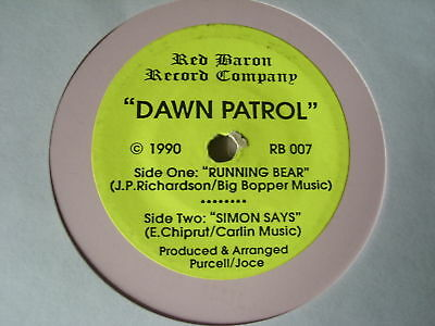 "CHILDRENS 7""single DAWN PATROL running bear and  simon says"