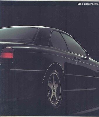 1994 Bentley Concept Java Prestige Brochure German ww1294