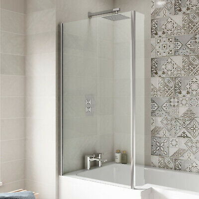Premier Quattro Bath Screen with Panel, L-Shaped Shower Baths, 6mm Glass