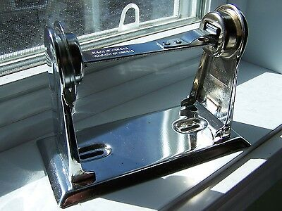 Vintage Style Chrome Toilet Paper Tissue Holder Side Arm Release