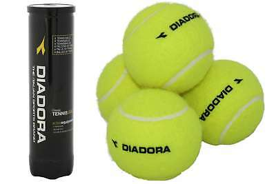 4er-Pack Tennisbälle DIADORA Trainings Tennis Ball Bälle Trainingsball in Dose