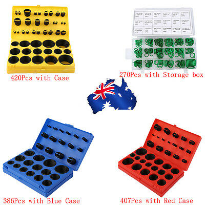 270/386/407/420Pcs Rubber Series O Ring Assortment Seal Plumbing Kit With Case D