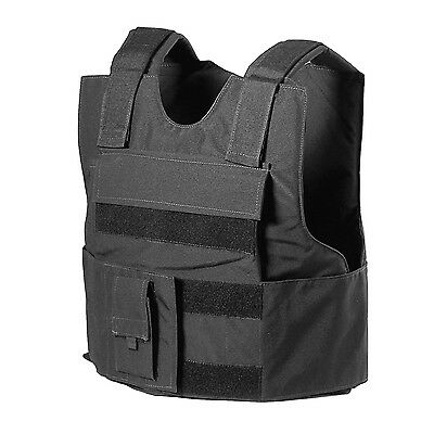 BLACK Police Force Bullet-Proof / Body Armor Vest Level IIIA 3A - Size L Large