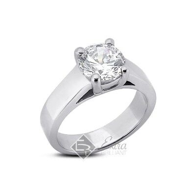0.84ct F/SI1/VG Round AGI Certify Diamond 14k Gold Cathedral Wedding Ring 5.15g